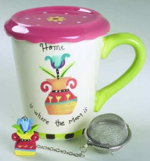 Mothers Day Mug with Lid & Infuser, Fine China Dinnerware   Holiday Collection,V