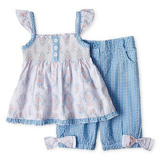 WENDY BELLISSIMO Wendy Bellissimo Gingham Capri Set   Girls 6m 24m, Kentucky B,