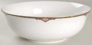 Spode Harvard 9 Salad Serving Bowl, Fine China Dinnerware   Black And Gold Band