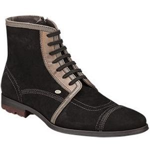 Bacco Bucci Mens Rocky Black Taupe Boots   2258 46 022