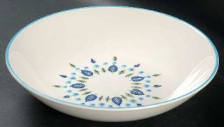 Marcrest Swiss Alpine 9 Round Vegetable Bowl, Fine China Dinnerware   Blue Flow