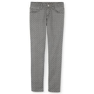Total Girl Gray Diamond Print Skinny Jeans   Girls 6 16 and Girls Plus, Gray,