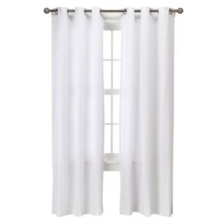 Threshold Grayson Grommet Window Panel Pair   White (42x95)
