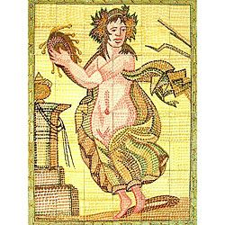 Mosaic Roman Diva 48 tile Ceramic Wall Mural
