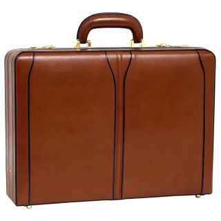 Mcklein Usa Turner Leather Attache (LeatherDimensions: 18 inches long x 13 inches wide x 4.5 inches deepWeight: 5.2 poundsSlim design3 digit combination lock for added securityGold finished hardwareComfortable top carry handleProtective feet keeps case fr