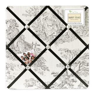 Sweet Jojo Designs Black French Toile Fabric Bulletin Board (CottonDimensions: 14 inches high x 14 inches wide)
