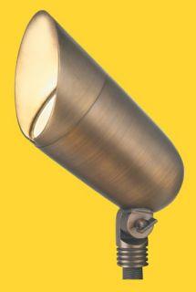 Corona Lighting CL526BAB 75W Low Voltage Large Brass Bullet Directional Light w/Easy Turn amp; Lock Shroud Antique Bronze