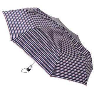 totes Family Jumbo Automatic Umbrella   Red/Blue Nautical Stripe