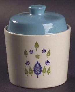 Marcrest Swiss Alpine Sugar Bowl & Lid, Fine China Dinnerware   Blue Flowers, Bl