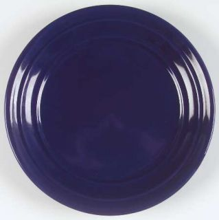 Home Blue Ribbed Dinner Plate, Fine China Dinnerware   Solid Blue, Coupe, No Tri