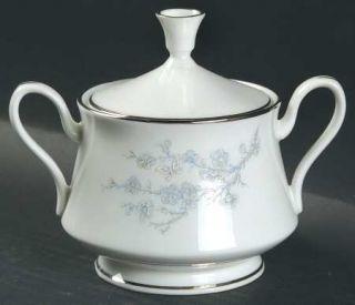 Oxford (Div of Lenox) Twilight Dell Sugar Bowl & Lid, Fine China Dinnerware   Bl