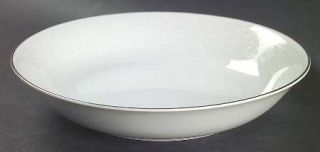 Carlton (Japan) Plymouth Coupe Soup Bowl, Fine China Dinnerware   White Scrolls