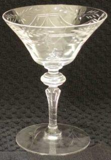 Seneca 8833 1 Champagne/Tall Sherbet   Stem#8833, Cut Foot, Flowers, Swags
