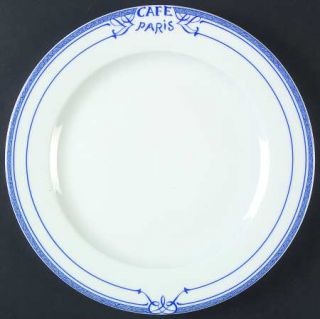 Bernardaud Cafe Paris Blue Service Plate (Charger), Fine China Dinnerware   Resi