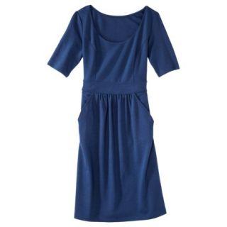 Merona Womens Ponte Elbow Sleeve Dress w/Pockets   Waterloo Blue   M