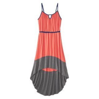 Merona Womens Knit Colorblock High Low Hem Dress   Clear Mango/Gray   XL
