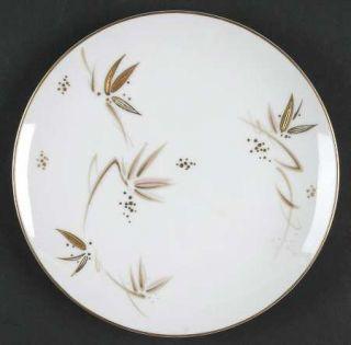 Noritake Toko Ri Bread & Butter Plate, Fine China Dinnerware   Brown And Gold Le