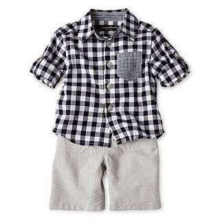 Wendy Bellissimo 2 pc. Checkered Short Set   Boys 6m 24m, Navy, Girls