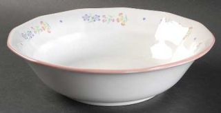 Sarma Studios Victorian Flowers 9 Round Vegetable Bowl, Fine China Dinnerware