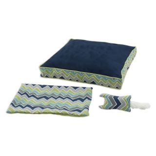 Chooty & Co PS Navy See Saw 23 x 23 in. Boxed Pet Bed and Versatile Cover and