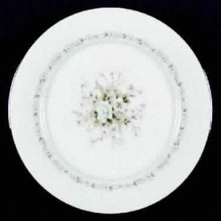 Noritake Poetry Dinner Plate, Fine China Dinnerware   Floral Ring, Floral Center