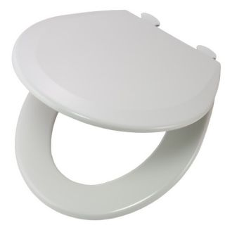 Bemis 500EC062 Easy Clean amp; Change Round Closed Front Molded Wood Toilet Seat Ice Grey