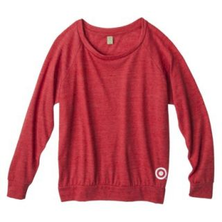 Womens Jersey Slouchy Red Pullover   M