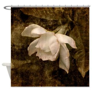Cape Jasmine Gardenia Shower Curtain  Use code FREECART at Checkout