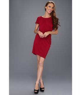C&C California Boat Neck Drape Dress Womens Dress (Red)