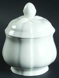 Villeroy & Boch Chambord (White,Fine China,Germany) Sugar Bowl & Lid, Fine China