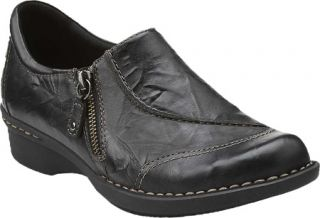 Womens Clarks Whistle Max   Black Leather Casual Shoes