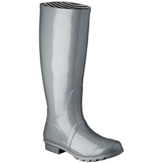 Womens Classic Knee High Rain Boot   Gray 8