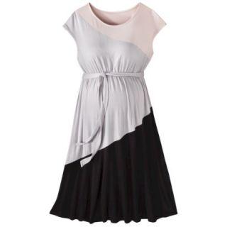 Liz Lange for Target Maternity Short Sleeve Colorblock Dress   Pink/Gray/Black M