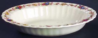 Spode Hazel Dell (White) 10 Oval Vegetable Bowl, Fine China Dinnerware   White,