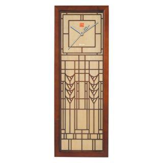 Bulova Corp Frank Lloyd Wright DeRhodes Wall Clock by Bulova   8W x 22H in.