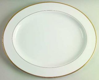 Royal Worcester Capri  16 Oval Serving Platter, Fine China Dinnerware   Bone, N