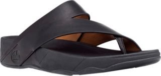 Womens FitFlop Sling Leather   Black Thong Sandals