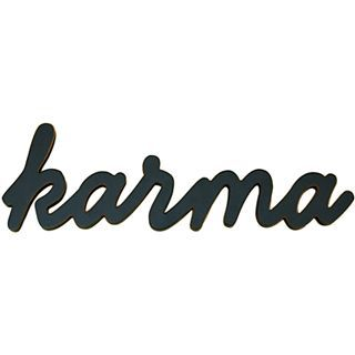ART Karma Wood Sign Wall Decor, Black