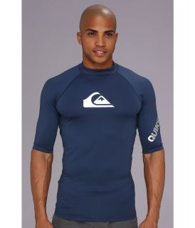 Quiksilver All Time S/S Surf Shirt AQYWR00034 Mens Swimwear (Navy)