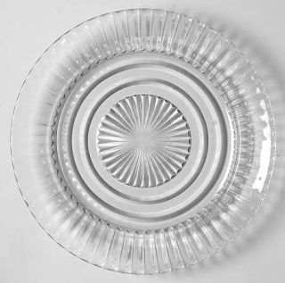 Anchor Hocking Queen Mary Clear Bread & Butter Plate   Clear, Depression Glass