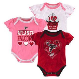 NFL Girls Onesie 3 Pack Falcons 18 M