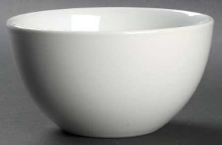 Tabletops Unlimited Luna Soup/Cereal Bowl, Fine China Dinnerware   All White,Und