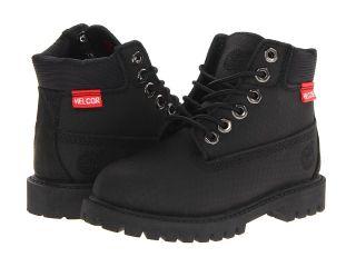 Timberland Kids 6 Premium Waterproof Scuff Proof II Boot Boys Shoes (Black)