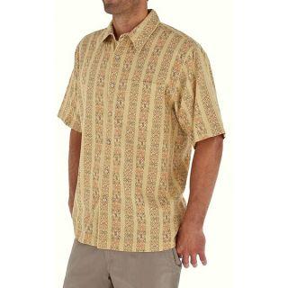 Royal Robbins Cool Mesh Print Shirt   Cotton  Short Sleeve (For Men)   WHEAT (M )