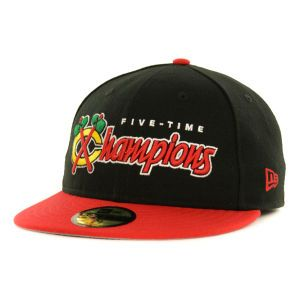 Chicago Blackhawks New Era NHL 2013 Stanley Cup 5X Champions 59FIFTY Cap