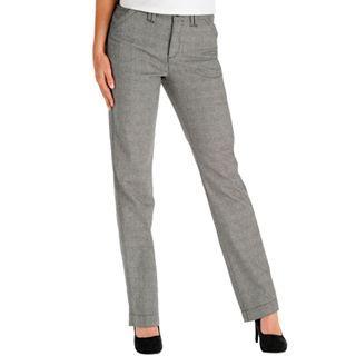 Lee Straight Leg Carden Soft Twill Pants, Blk Authentic Glen, Womens