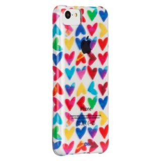 CaseMate Naked Print Hearts Cell Phone Case for iPhone 5C   Multicolor