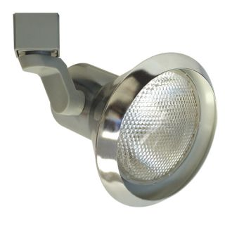 Elco Lighting ET658N Track Light, Line Voltage PAR30 Solid PAR Classic Track Fixture Brushed Nickel