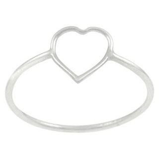 Tressa Collection Sterling Silver Heart Cut out Ring   Silver 8