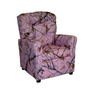 Brazil Furniture 4 Button Back Child Recliner   True West Pink Camo   400 CAMO